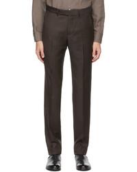 Ermenegildo Zegna Brown Wool Twill Trousers