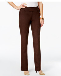 Charter Club Cambridge Faux Suede Tummy Control Pants Created For Macys