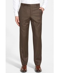 Classic b fit flat front wool trousers medium 280103
