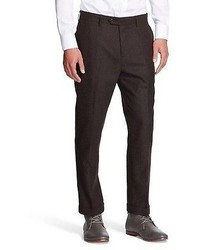 Does Not Apply Tweed Suit Pant Dark Brown Wdny Black
