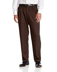 Haggar Textured Stria Pleat Front Dress Pant