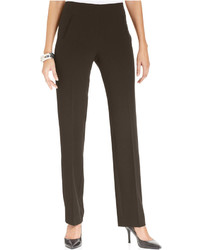 Style co tummy control pull on straight leg pants medium 6870477