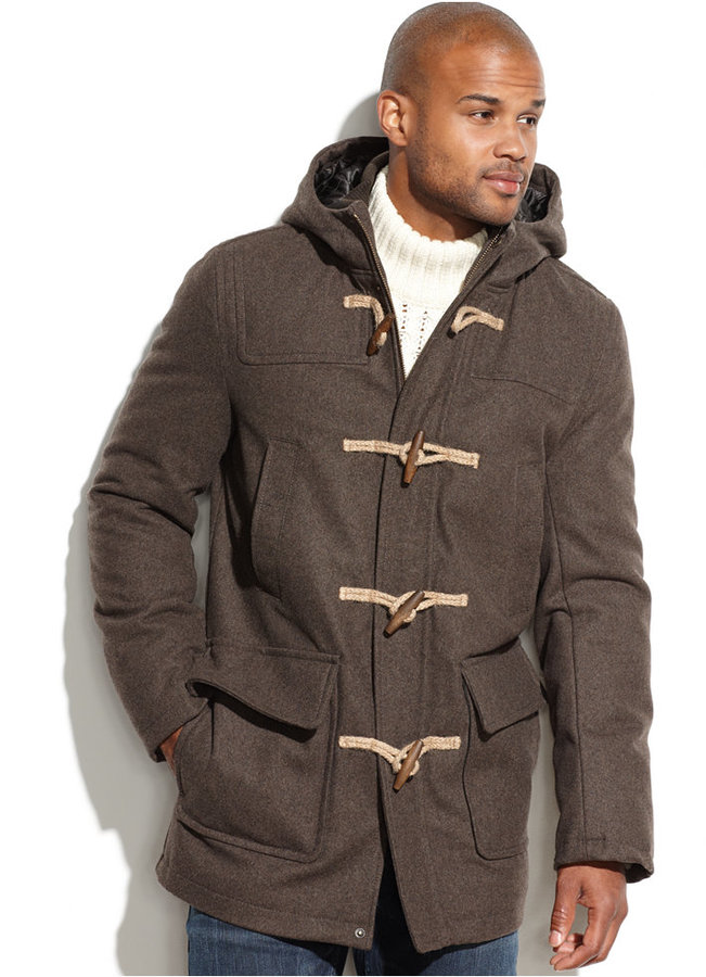Tommy Hilfiger Wool Blend Melton Hooded Toggle Coat | Where to buy ...