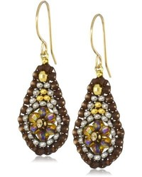 Cognac quartz mini tear drop earrings medium 203835