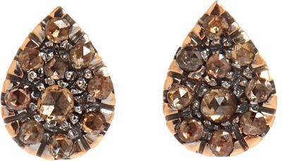 Fabrizio Riva Brown Diamond Teardrop Stud Earrings Colorless 1 105 Barneys New York Lookastic
