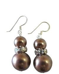 FashionJewelryForEveryone Low Priced Jewelry Meet Your Budget Bridesmaid Earrings Brown Pearls