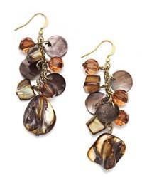 Style&co. Earrings Brown Shell Cluster Earrings