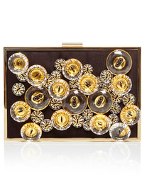 Embellished satin lily clutch medium 279601