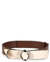 Marni Embellished Bow Leather Belt