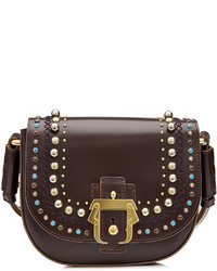 Paula Cademartori Embellished Leather Shoulder Bag