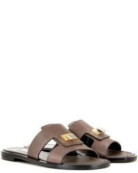 Embellished leather sandals medium 701441