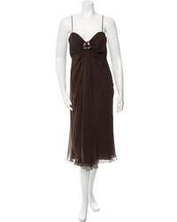 Embellished silk dress medium 1014657