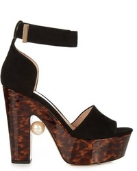 Nicholas Kirkwood Maya Pearl Embellished Block Heel Sandals