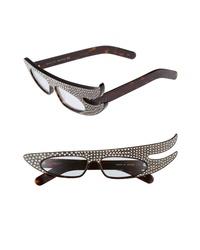 Gucci 56mm Embellished Statet Sunglasses