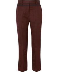 Haider Ackermann Cropped Embroidered Slim Leg Pants