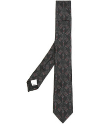 Valentino Sword And Heart Embroidered Tie