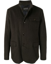 Emporio Armani High Neck Single Breasted Jacket