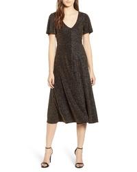 Leith Metallic Stripe Midi Dress