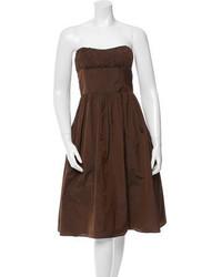 Strapless pleated dress medium 1009379