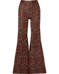 Chloé Metallic Jacquard Knit Flared Pants