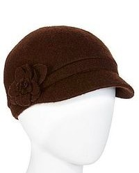 jcpenney August Hat Co Inc Flower Accent Brown Newsboy Cap