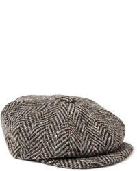 Lock & Co Hatters Muirfield Wool Tweed Flat Cap