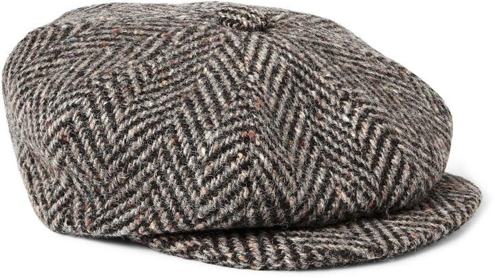 ... Dark Brown Flat Caps Lock   Co Hatters Muirfield Wool Tweed Flat ... a2fcf15bd89f