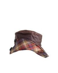 Olney Hats Heather Waxed Cotton Waterproof Hat Brown