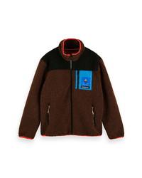 Scotch & Soda Colorblock Fleece Jacket