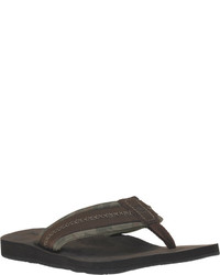 Timberland Earthkeepers Flip Flop Light Brown Leathertextile Thong Sandals