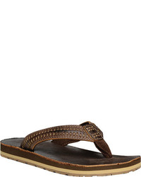 Bed Stu Gruper Flip Flop Brown Crazy Horse Leather Thong Sandals