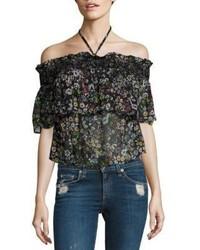 Rebecca Minkoff Ghiradelle Off The Shoulder Floral Top