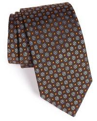 Dark Brown Floral Tie