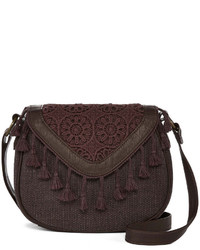 Dark Brown Fringe Crossbody Bag
