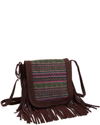Tribal Fringed Crossbody Bag