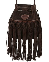 El vaquero sachet fringed suede shoulder bag medium 743995