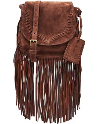 Polo Ralph Lauren Ralph Lauren Polo Suede Shoulder Bag With Fringe