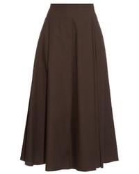 Dark Brown Full Skirt