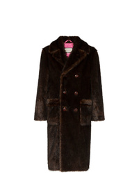Gucci Double Breasted Faux Fur Coat