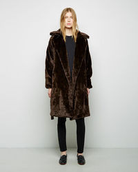 Organic by John Patrick Faux Fur Blanket Coat