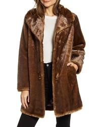 Fur Coats Fashion WomenWomen's for Brown Dark Fl13KJcT