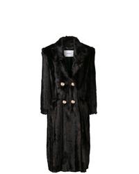 Erdem Faux Fur Double Breasted Coat