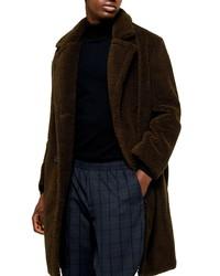 Topman Faux Fur Long Teddy Coat
