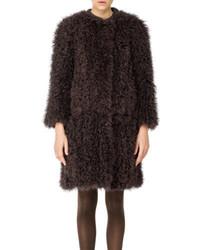 Max Studio Maxstudio Curly Fur Coat