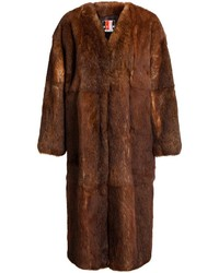 MSGM Panelled Fur Coat