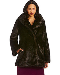 Jones New York Shawl Collar Faux Fur Coat