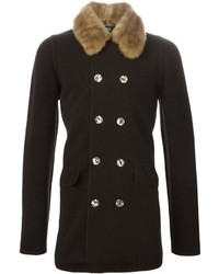 Jean paul gaultier vintage jersey double breast coat medium 339319