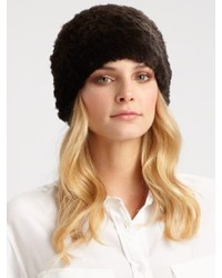 Saks Fifth Avenue Collection Sheared Rabbit Fur Hat