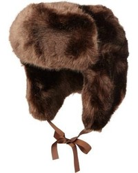 Imposter Faux Fur Trapper Hat Brown
