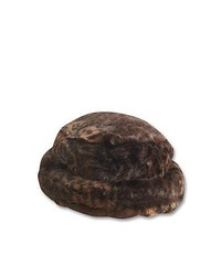 Scala Hats Scala Faux Fur Bucket Hat Dark Leopard